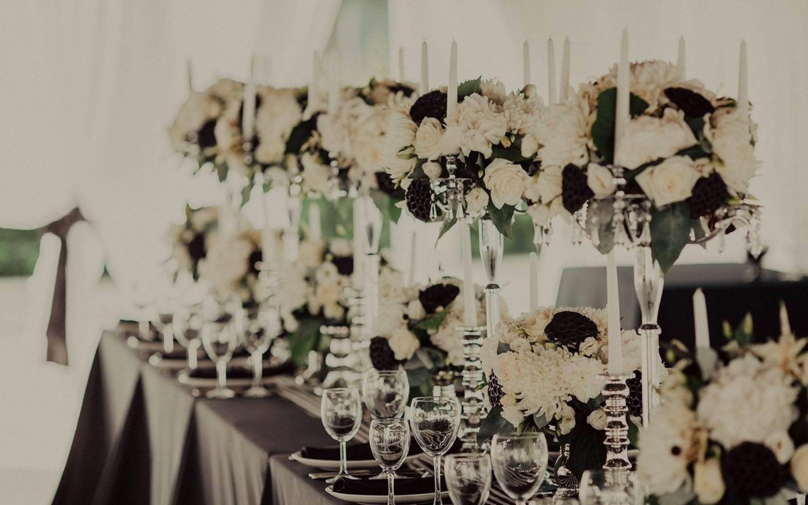 декор в черно белом цвете фото
